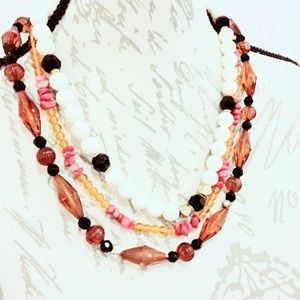 Orange Vintage Beaded Necklace